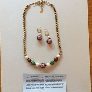Necklace and Earrings in Women